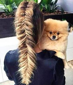 Having long and full-bodied hair allows for a very particular and original hairstyle: the pancake braid Eden Hair, Jiff Pom, Luxy Hair Extensions, Hello Hair, Pose, Natural Hair Styles, Long Hair Styles, Great Hair, Up Dos