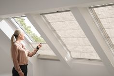 Choosing the right VELUX skylight blind will add a huge range of benefits to your home. Find out more! Windows, Blinds For Windows, Roller Blinds, Velux, Blinds, Window Coverings, Windows And Patio Doors, Wooden Window Shutters, Skylight Blinds