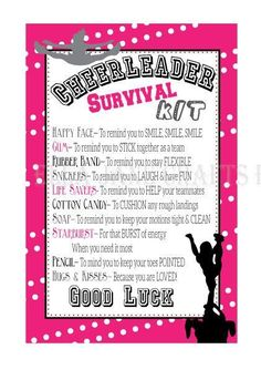 Cheerleading Survival Kits- Cheer Presents- PDF file Survival Package- CUSTOM colours- Custom-made. ** Take a look at more at the image link