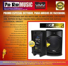 Bafle potenciado SKP _ Audiotienda VMV