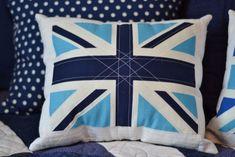 Adorable DIY Union Jack pillows!