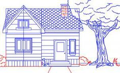how to draw a house step 7