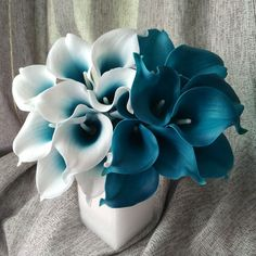 100 Real Touch Calla Lily Teal Latex Calla Lilies Teal Blue Wedding Flower For Wedding Centerpieces Decoration Wholesale Flowers-in Decorative Flowers & Wreaths from Home & Garden on Aliexpress.com | Alibaba Group