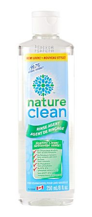 Nature Clean Dishwasher Rinse Agent - Unscented. Free of phosphates. Available @ GrassRootsstore.com - Toronto & Well.ca and select grocery stores. #vegan #fragrancefree #unscented #scentfree