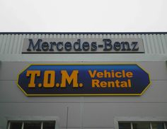 The new sign at our main depot in Airdrie. #tomvehiclerental #gray @mercedesbenzuk