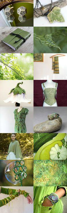 Spring green by Dorota Kościelniak on Etsy--Pinned with TreasuryPin.com