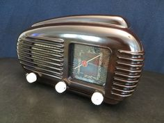 "VINTAGE 1940s OLD RARE TESLA "" TALISMAN "" MACHINE AGE ART DECO BAKELITE RADIO in Consumer Electronics, Vintage Electronics, Vintage Audio & Video 