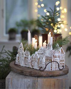 All Things Christmas and Winter Christmas Gingerbread House, Noel Christmas, Christmas 2019, Winter Christmas, Christmas Crafts, Gingerbread Houses, Swedish Christmas Decorations, Gingerbread Cookies, Navidad Diy