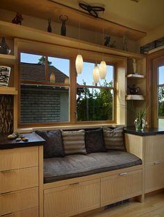 Kitchen. Window Seat Kitchen Design Ideas: Home Design Ideas Apartment Interior Design Decorating Kitchen Design Furniture Design ~ Ranario