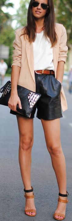 Summer leather.