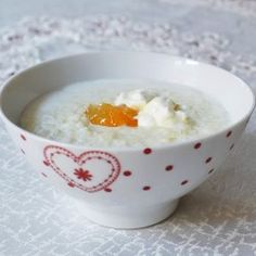 Creamy mascarpone rice pudding