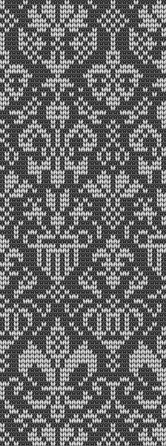 Подбор цветовой гаммы для вязания жаккардового узора