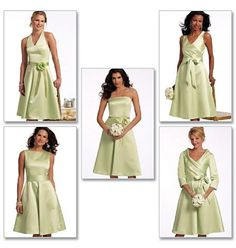 Butterick 5322 Sewing Pattern to MAKE Bridesmaid / Special Dress - Lg sz Range