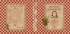 Vintage cookbook binder to print in miniature for the dollhouse kitchen