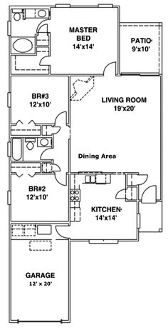 House Plan 53130 Level One