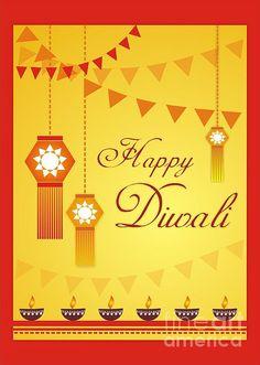 Happy Diwali by Prajakta P  Diwali is a festival of lights celebrated in India. #Diwaligreetingcard #happydiwali #diwaliwishes #diwaliartprints #happydiwalibyprajaktap