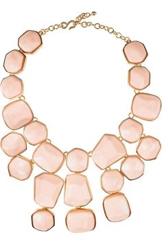 Kenneth Jay Lane 22-karat gold-plated bib necklace  available on Net-a-Porter $600