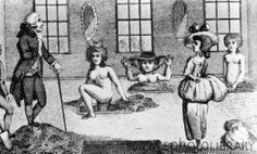 """Mud baths. Women taking mud baths in the 18th century, watched by James Graham (died 1794), a Scottish medical fraudster. Bathing in mineral water and mud was prescribed for many types of ailments, though the rich and famous also used bathing houses as social centres. Graham's """"earth- bathing"""" was one of a number of medical frauds that he carried out in London. He claimed that bathers could prolong their physical beauty by bathing at his establishment. Graham died insane in Scotland."""
