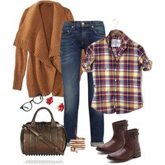 Fall for Plaid, created by mamavalveeta03 on Polyvore