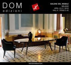 Join us at Il Salone del Mobile 2016, in Milan, where we'll present our new collection. To discover the new items write us to schedule a brief appointment dom@domedizioni.com #ilsalonedelmobile2016 #domedizioni #luxuryinterior