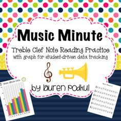 10 Treble Clef Music Minute Worksheets. Each worksheet has 60 notes ranging from C4-F5. There is also a blank bar graph included so that students can track their data and see how they progress.