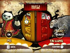 Kung Fu Panda User Interface - Wii by Eric Bellefeuille, via Behance