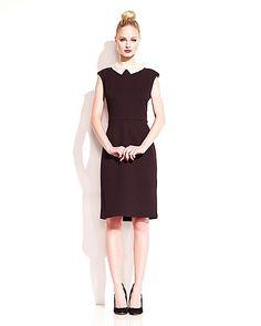 NEW PEARL COLLAR DRESS BLACK ready to wear dresses no classes fashion