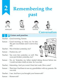 English Grade 7 Remembering The Past http://language.wordzila.com/english-book-grade-7-remembering-past/