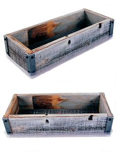 Amazon.com: Reclaimed Barnwood Planter Box - Weathered Rustic Flower, Herb & House Plant Garden Barn Wood Planter With Drip Tray: Patio, Lawn & Garden