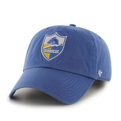 b5d872379bca7 NFL Los Angeles Chargers  47 Brand Clean Up Slouch Relax Shield Adjustable  1961 logo Hat