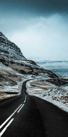Winter Iceland Road IPhone Wallpaper - IPhone Wallpapers