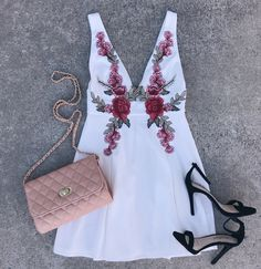Rose embroidered dress #swoonboutique