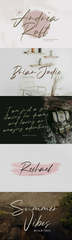 Andrea Roft - Andrea Roft is a script font design published by Muhammad Naufal Anis.