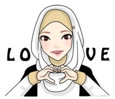 trendy how to draw a girl for kids animation Cute Cartoon Girl, Cartoon Pics, Anime Muslim, Muslim Hijab, Cute Drawings Of Love, Painted Wood Letters, How To Wear Headbands, Hijab Drawing, Mountain Drawing