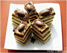 Prăjitură cu cremă de ness și sos caramel No Cook Desserts, Erika, Tiramisu, Waffles, Caramel, Avocado, Cooking, Breakfast, Ethnic Recipes