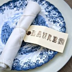 Love blue and white plates