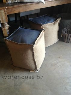 Cubed Ottomans here at Warehouse 67! Only $99 each! www.warehouse67design.com