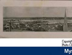 Panoramic view of New London and New London Harbor. :: Connecticut History Online