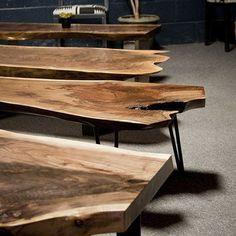 Best 35 Home Decor Ideas - Lovb Danish Furniture, Teak Furniture, Furniture Sale, Furniture Decor, Madeira Natural, Cool Tables, Live Edge Table, Wood Planters, Wood Slab