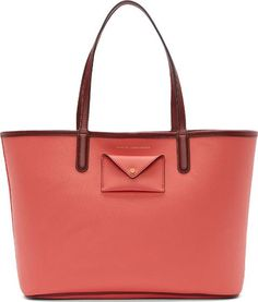 Pink And Burgundy Etched Leather Tote 48 #Totes #Ssense #fashion #obsessory #fashion #lifestyle #style #myobsession