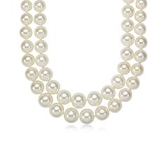 Double-Strand Graduated Freshwater Cultured Pearl Necklace | Your chance to win a $1000 gift card from #BlueNile!