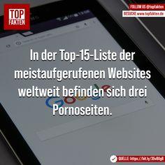 In der Top-15-Liste der meistaufgerufenen Websites weltweit befinden sich drei Pornoseiten. - #website #www #google #webseite #internet #digital #fakten Porno, Internet, Google, Instagram, Website