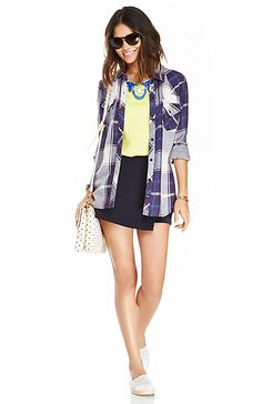 Flannel shirt with a lime green jeweled T?! Uhm, YES PLEASE...