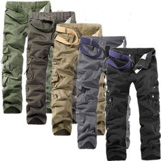 Mens outdoor army cargo pants $8~$14