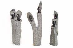 Look at these really cool African stone sculptures. I like how basic and simplistic they are. It's clear that whoever made them has an eye for artistic beauty. These would go perfectly in my garden.