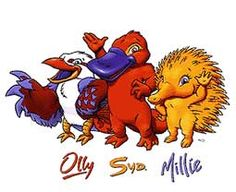 The Sydney 2000 Olympic mascots