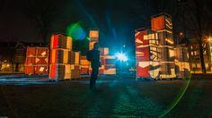 I #AMsterdam #Selfie #lightfestival Het Blauwe Uur op Jonas Daniel Meyerplein op 18 december 2013@rogiervdheide