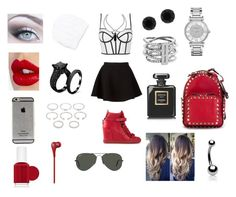 """""""Outfits #25"""" by emelygabriela on Polyvore featuring Neil Barrett, Giuseppe Zanotti, Topshop, Charlotte Tilbury, Forever 21, Michael Kors, Anne Klein, Essie, Valentino and Beats by Dr. Dre"""
