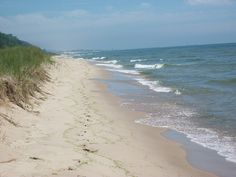 shores of Lake Michigan from Muskegon state park,,, love walking there