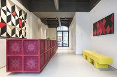 aldo cibic turns milan apartment building into 'savona 18 suites' hotel Milan Apartment, Home Suites, Boutique Interior Design, Design Blog, Store Design, Hotel Interiors, Contemporary Interior, Interiores Design, A Boutique